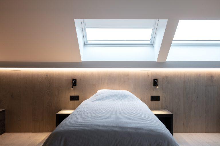 strak slaapkamer interieur