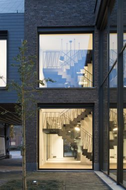 stijlvol zicht van een architectenbureau