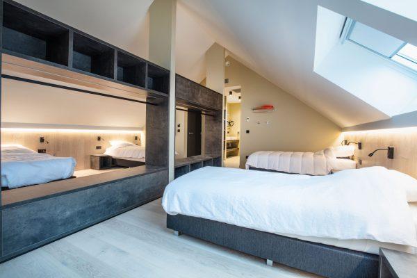 stijlvolle slaapkamer in cafe coureur