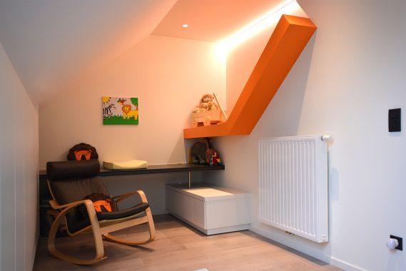 Oranje interieur van woning in Sint-Truiden