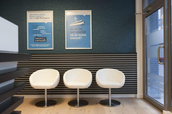 stijlvol strak interieur voor de inkomhal van een verzekeringskantoor