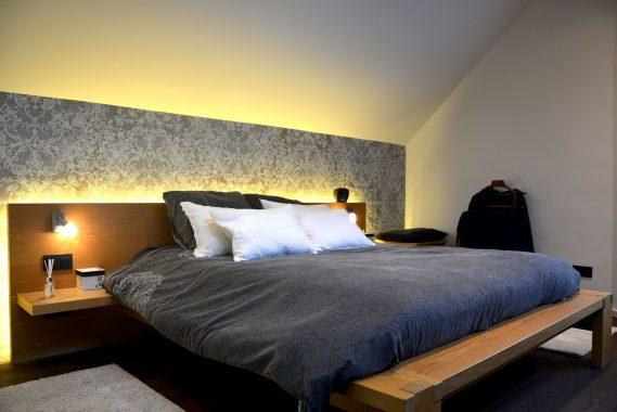 stijlvol interieur voor slaapkamer in een woning in herk de stad